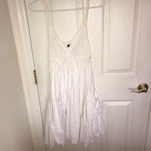 Moda International Dress All White with Pockets